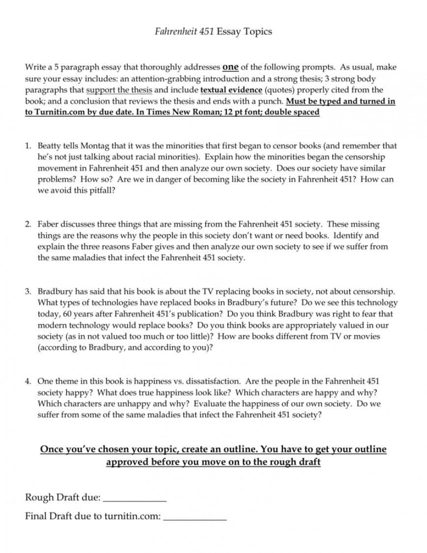 Best fahrenheit 451 essay thatsnotus