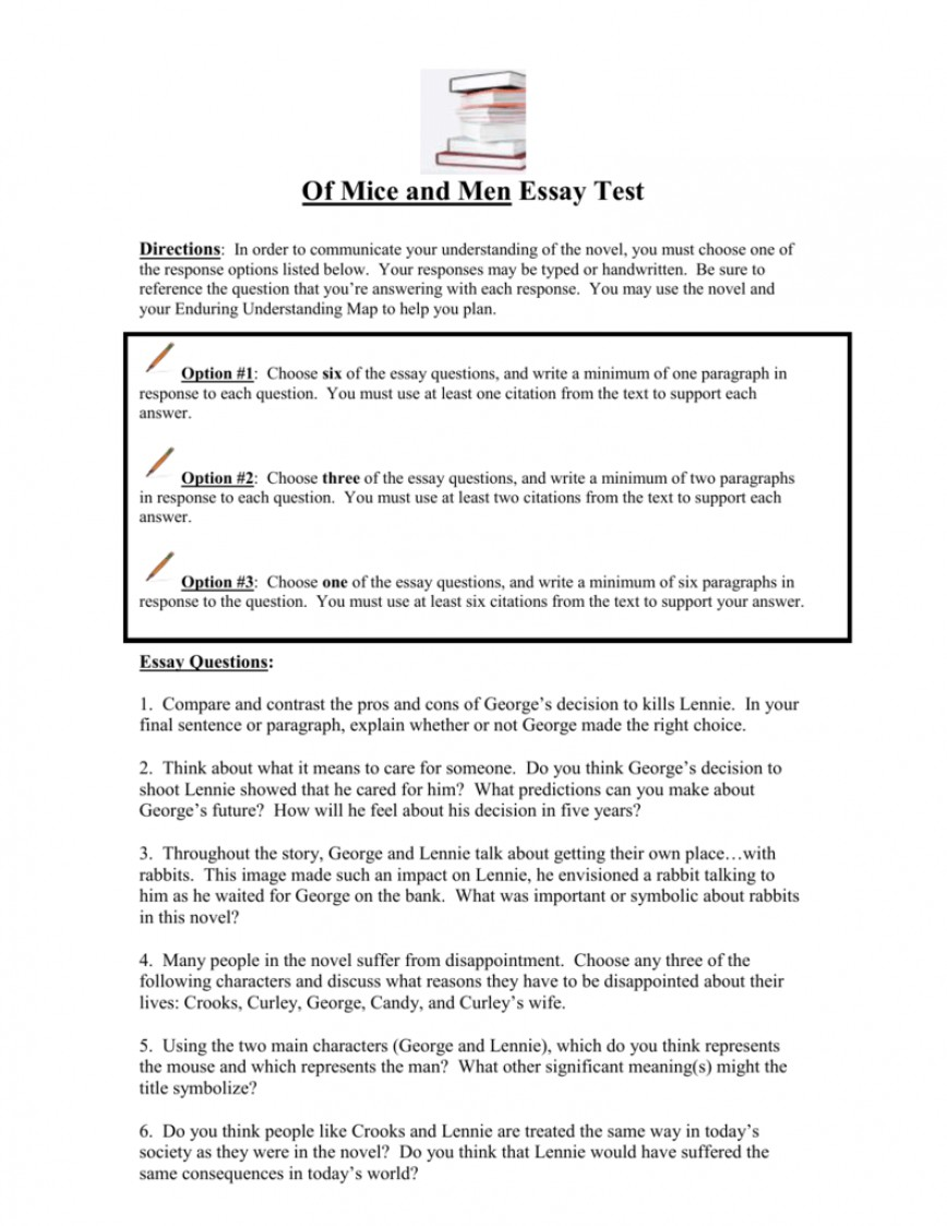 001 007399108 1 Of Mice And Men Essay Fearsome Prompts
