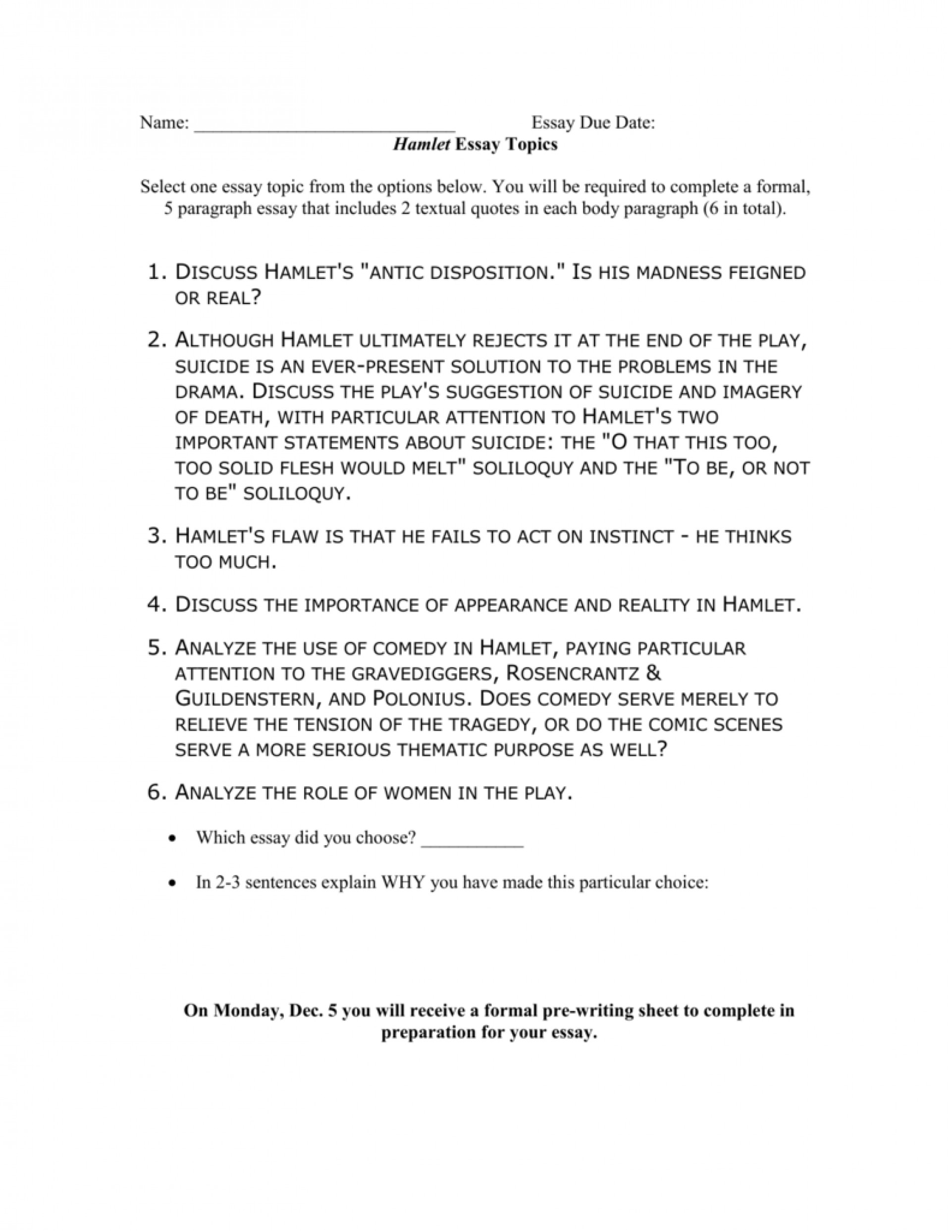 001 008023648 1 Essay Example Hamlet Rare Topics High School And Answers Ap Literature Prompt 1920