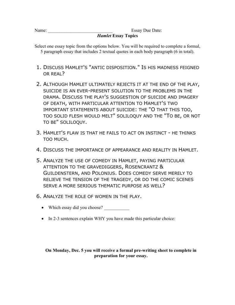 001 008023648 1 Essay Example Hamlet Rare Topics High School And Answers Ap Literature Prompt Full