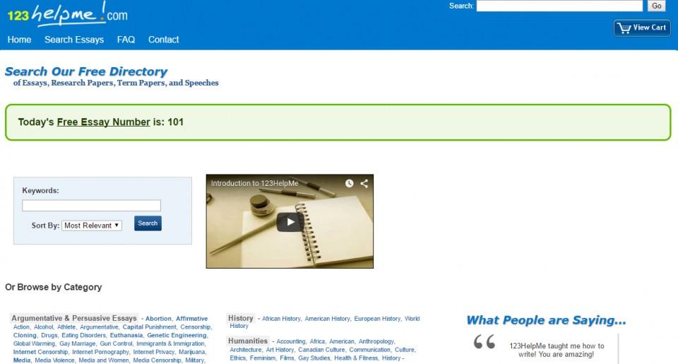 001 123helpme Free Essay Code Excellent 960