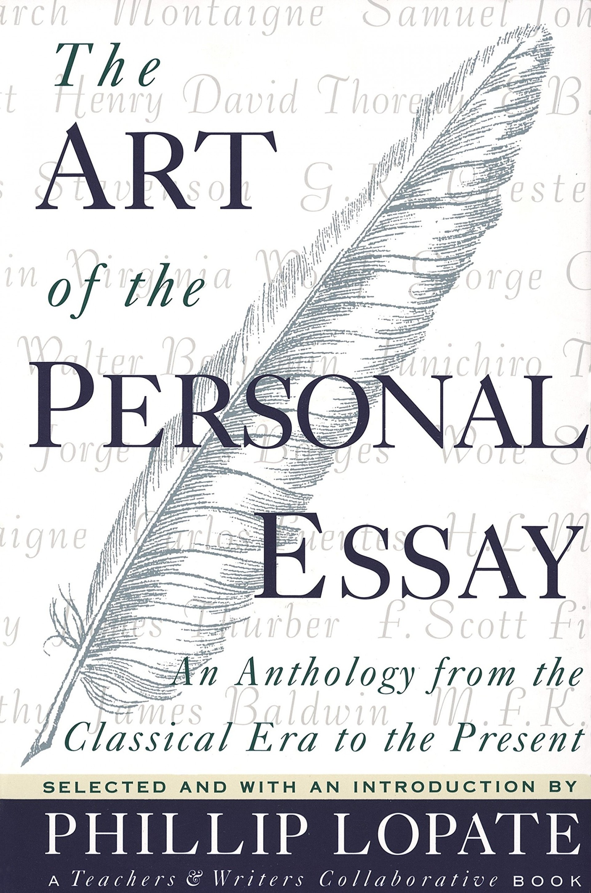 001 91bxbkzxmml The Art Of Personal Essay Beautiful Phillip Lopate Table Contents Sparknotes 1920