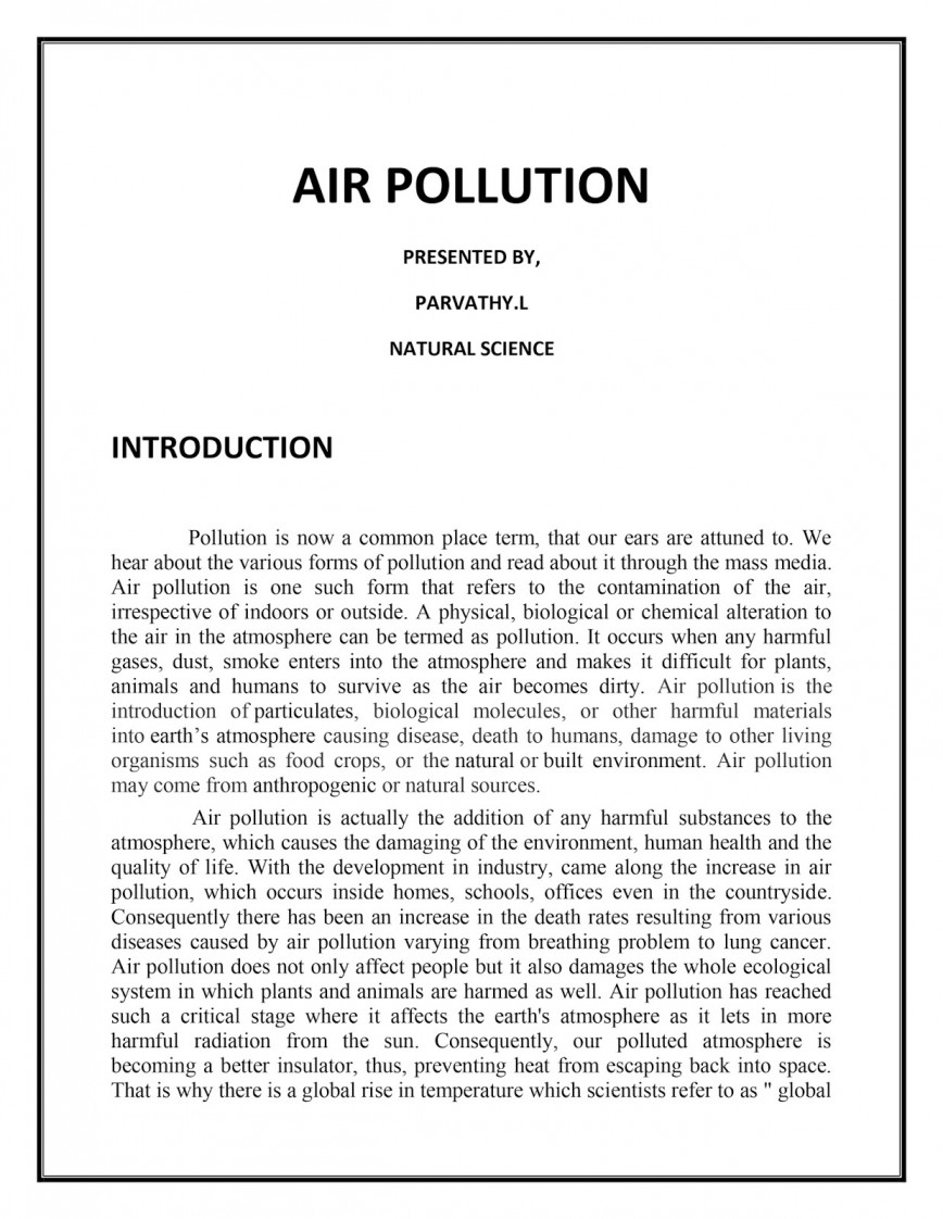 001 Airpollutiononlineassignment Essay Example Remarkable Pollution Noise In English 300 Words Plastic Titles Air Conclusion