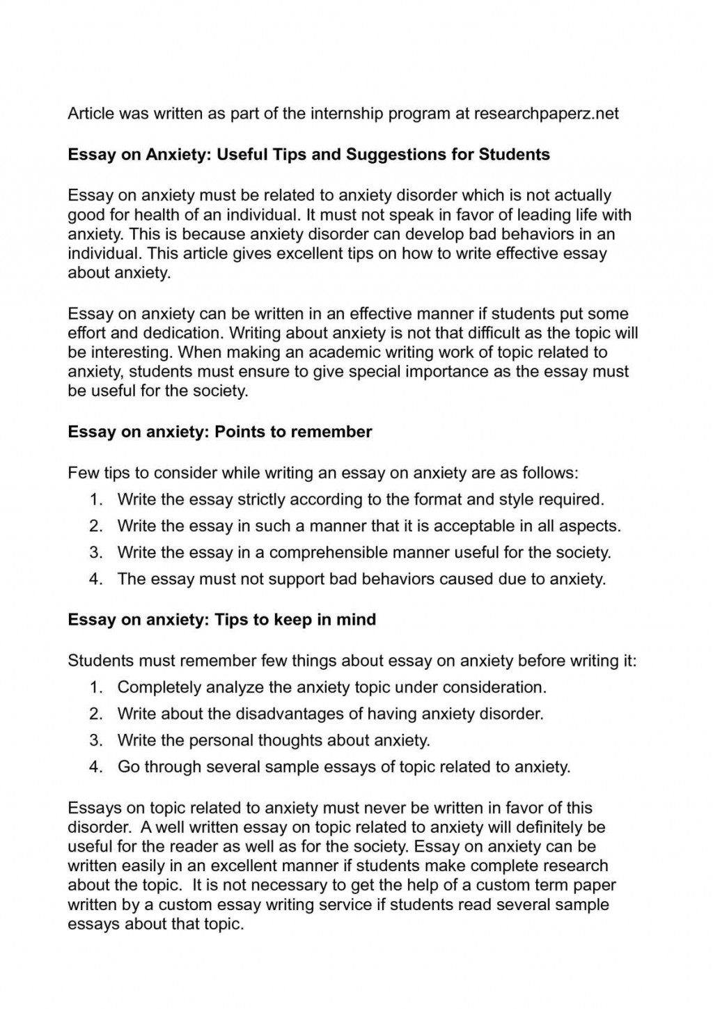001 Anxiety Essay P1 Imposing Thesis Outline Titles Large