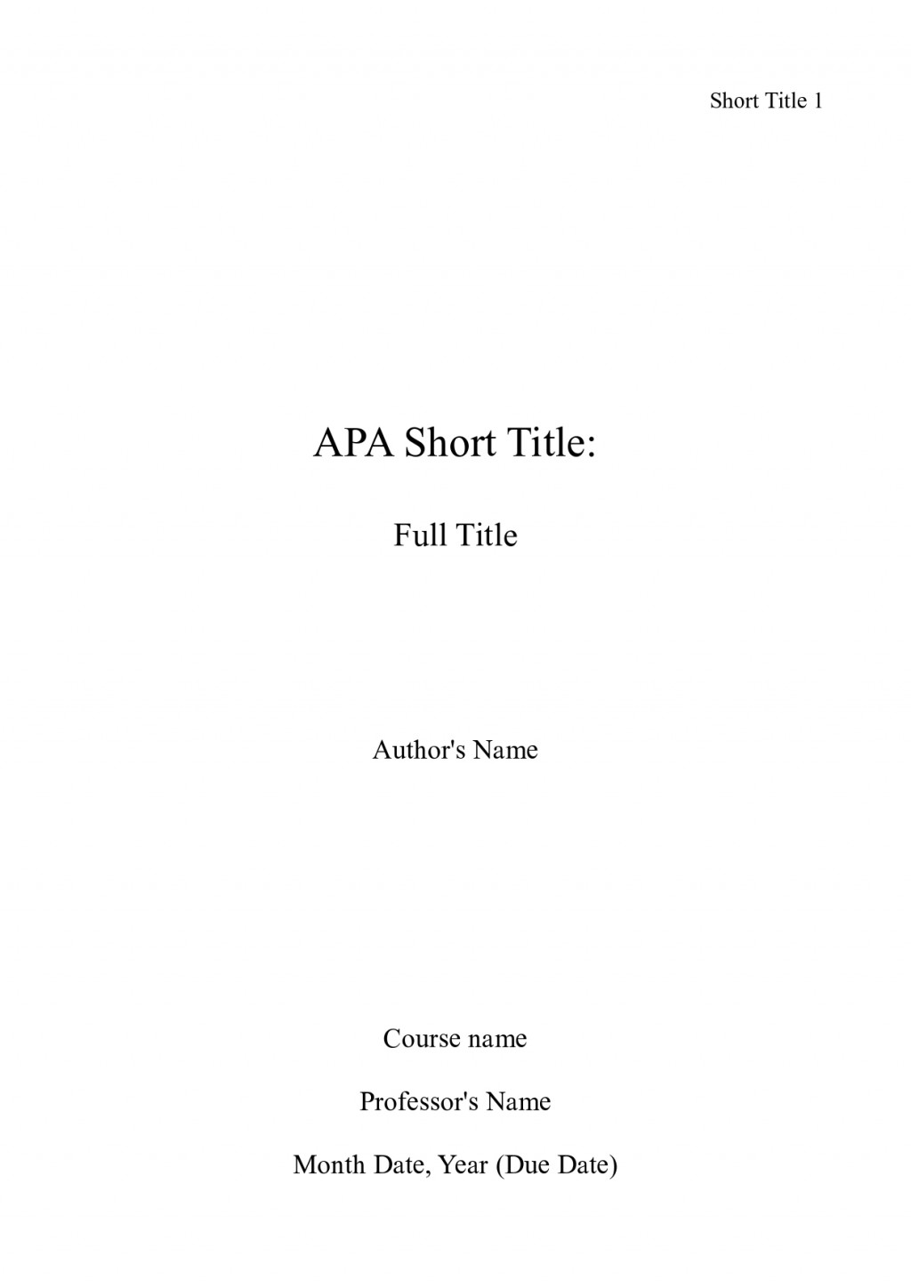 001 Apa Title Page Sample Essay Example Cover Sheet Shocking For Word An Format Mla Large