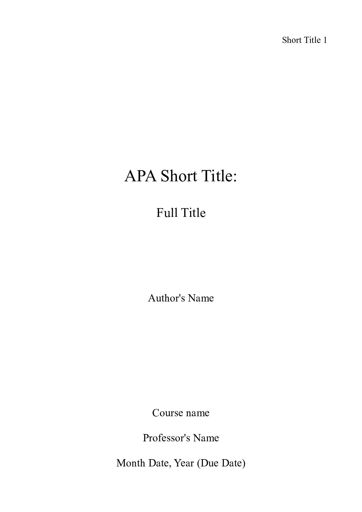001 Apa Title Page Sample Essay Example Marvelous Cover College Format Reference 6th Edition Full