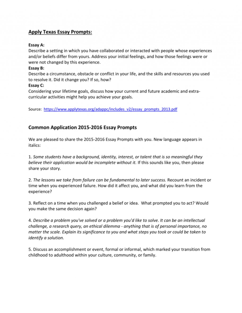 001 Apply Texas Essays Fall 008198809 1 Essay Impressive 2015 Large