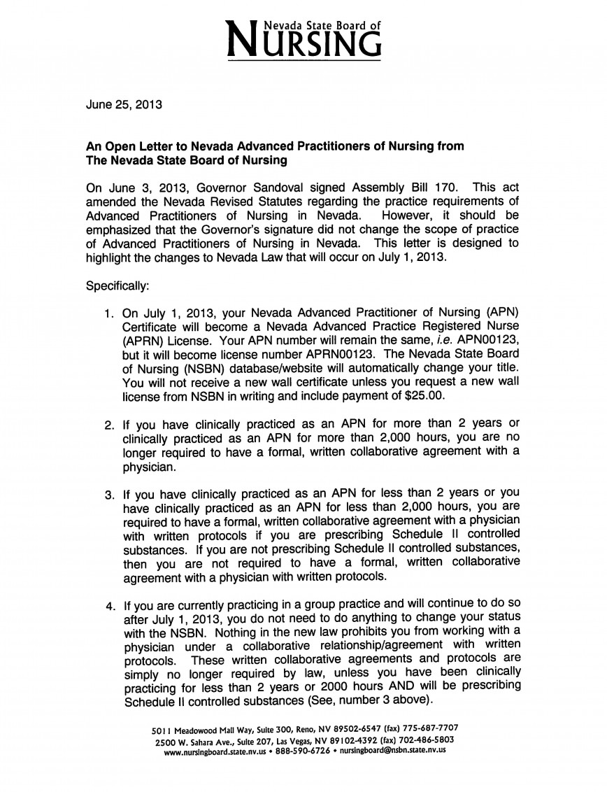 001 Aprnletter Page 1 Essay Example Why I Want To Nurse Top Be A Sample Practitioner Samples Become