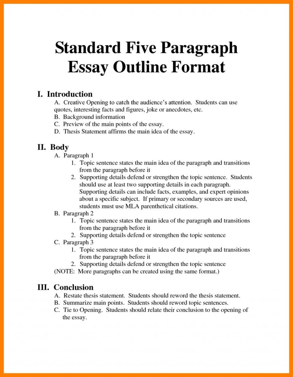 001 Argumentative Essay Format Example Outline Oracleboss Best Template Sample Pdf Large
