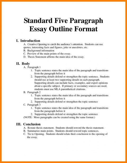 001 Argumentative Essay Format Example Outline Oracleboss Best Template Sample Pdf 480