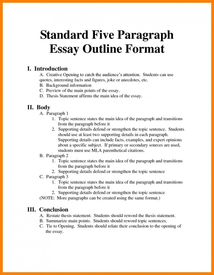 001 Argumentative Essay Format Example Outline Oracleboss Best Template Sample Pdf 728