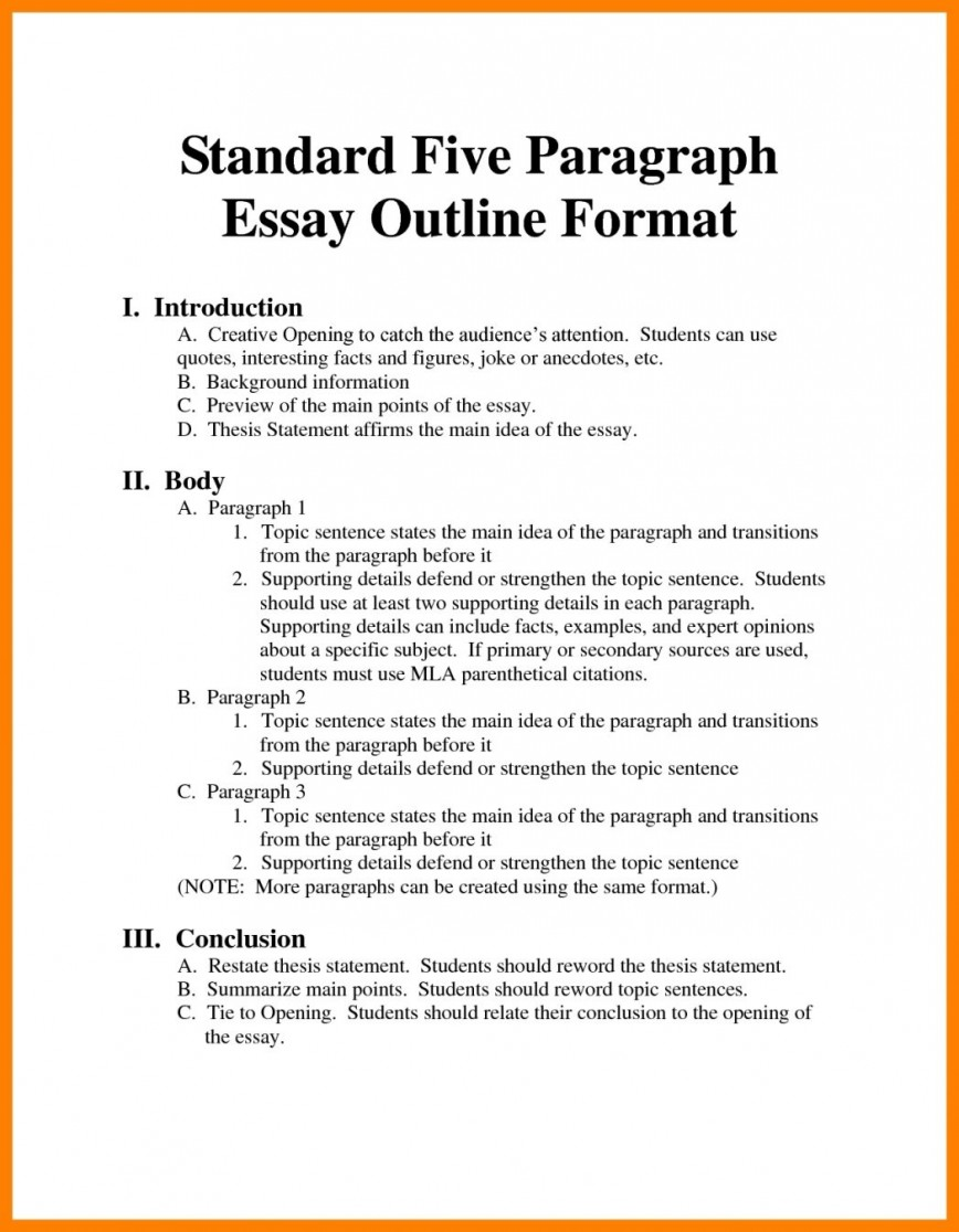 001 Argumentative Essay Format Example Outline Oracleboss Best Template Sample Pdf 868