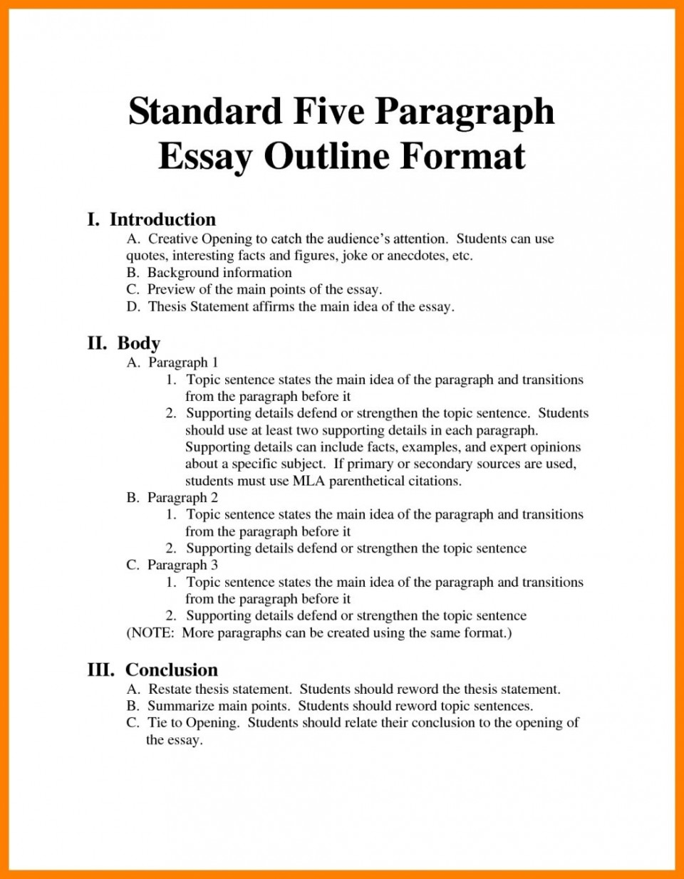 001 Argumentative Essay Format Example Outline Oracleboss Best Template Sample Pdf 960