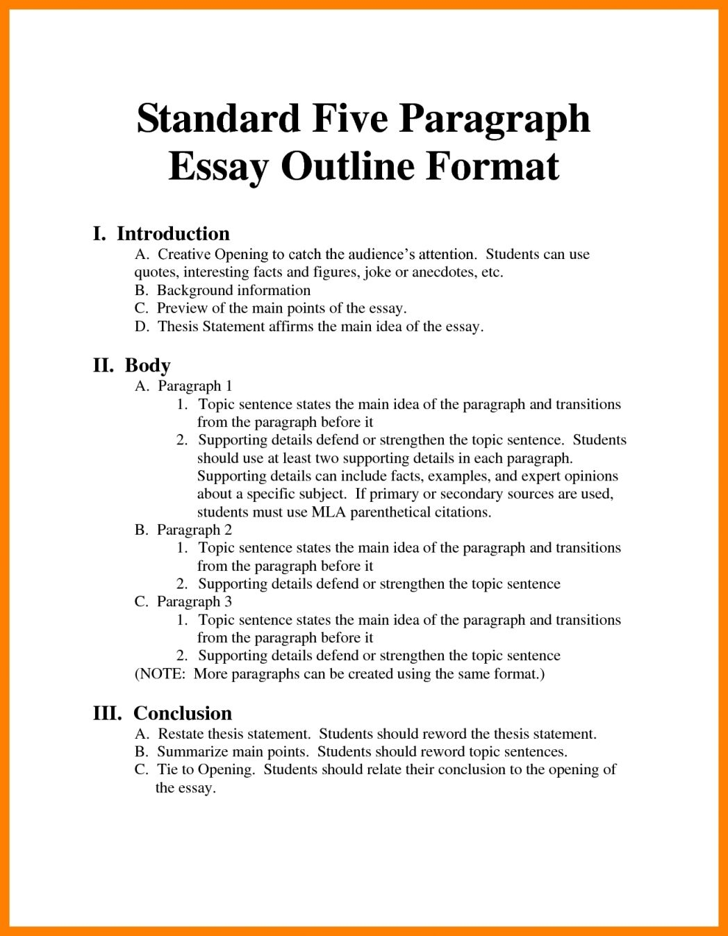 001 Argumentative Essay Format Example Outline Oracleboss Best Template Sample Pdf Full