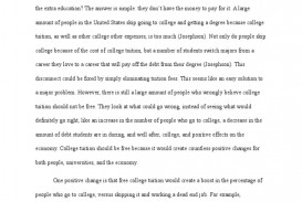 001 Argumentative Essay Tuition Payments Should College Or University Education Free Impressive Be Not Persuasive