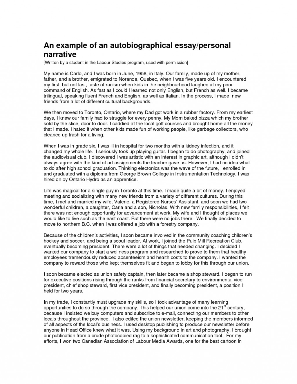 001 Autobiography Essay Example Unique Of About Yourself Tagalog Bio For Students Large