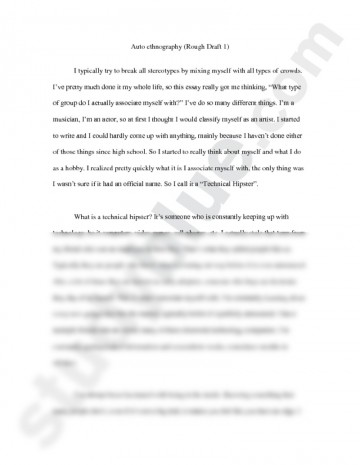 001 Autoethnography Example Rough English With Clarke Examples Ofs L Best Essays Sample Pdf Essay 360