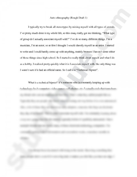001 Autoethnography Example Rough English With Clarke Examples Ofs L Best Essays Essay Pdf Sample 480