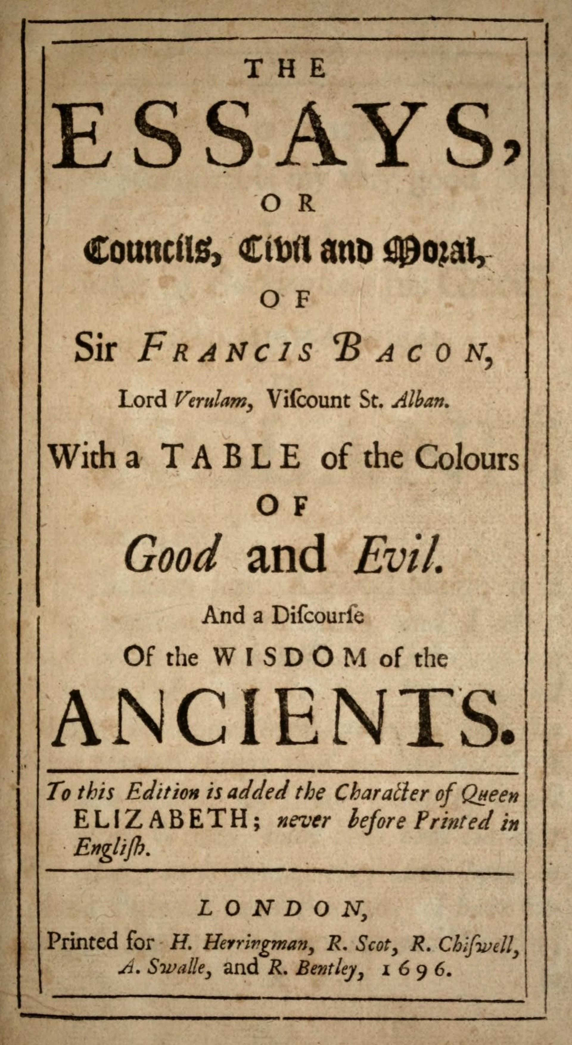 001 Bacons Essays Bacon 1696 Essay Amazing Francis Google Books Of Truth Quiz Bacon's Summary 1920