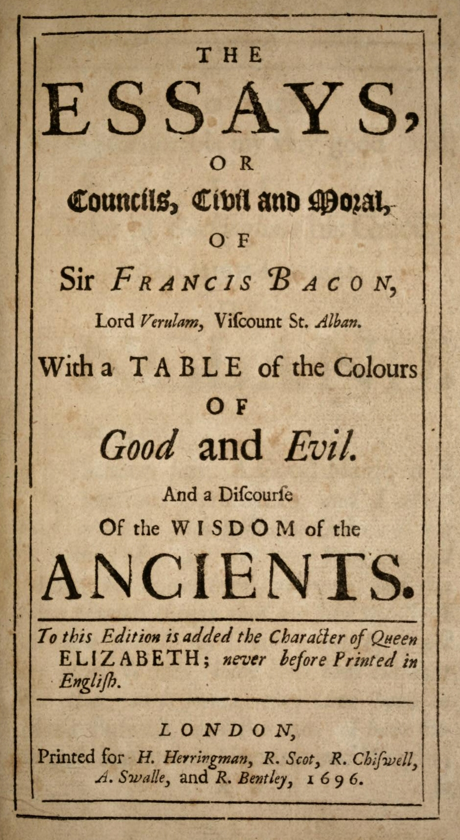 001 Bacons Essays Bacon 1696 Essay Amazing Francis Pdf Free Download Bacon's Of Truth Summary Full