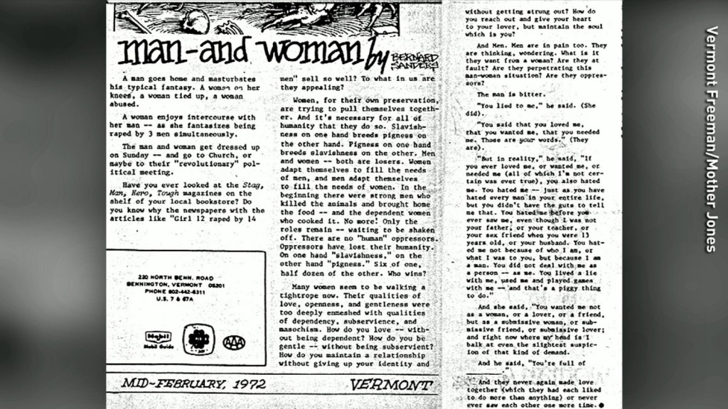 001 Bernie Sanders Rape Essay Man Woman Lead Full Phenomenal Large