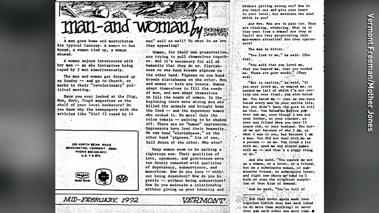 001 Bernie Sanders Rape Essay Man Woman Lead Full Phenomenal Full