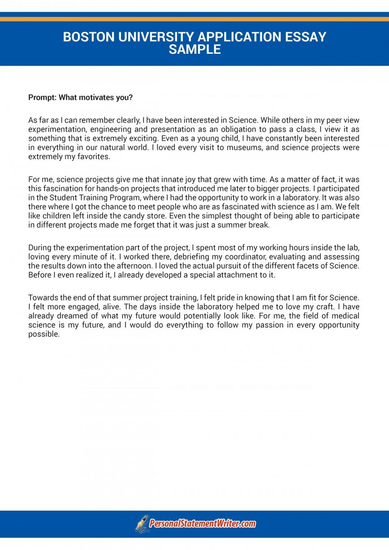 001 Boston University Why Essay Striking Example Law School