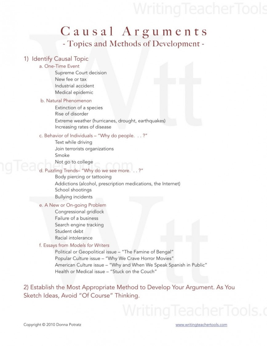 001 Causal Essay Topics Example Analytical Topic Ideas Of An Analysis Process For College Students Argument And Methods Develo Rare Easy List Fun
