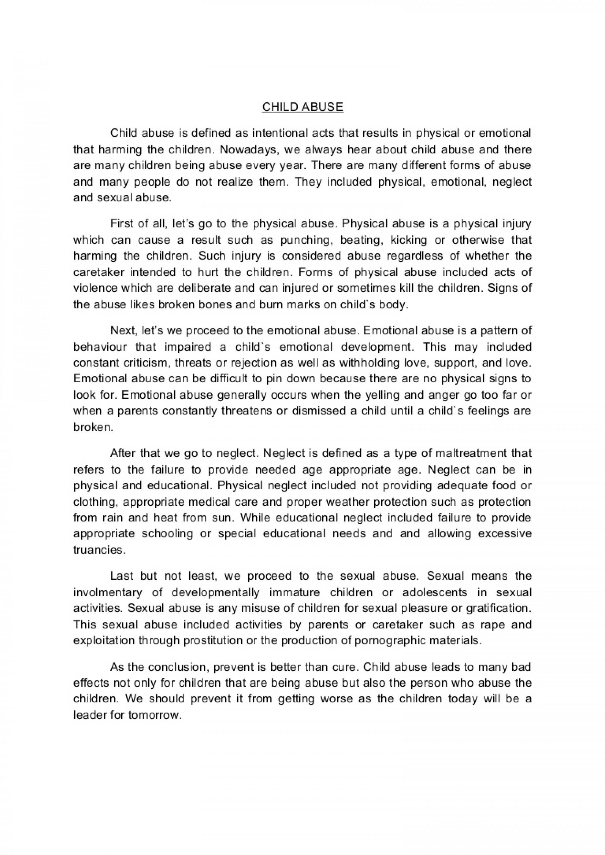 001 Child Abuse Essay Childabusenewessay Phpapp02 Thumbnail Breathtaking 1920