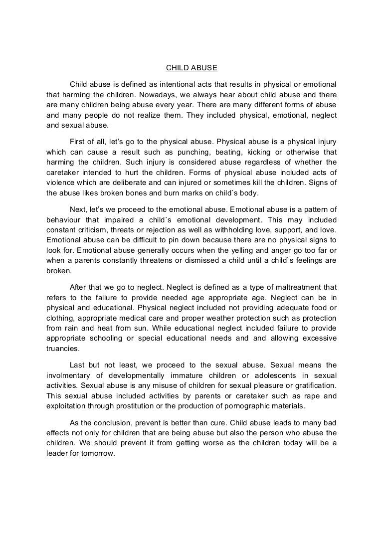 001 Child Abuse Essay Childabusenewessay Phpapp02 Thumbnail Breathtaking Full