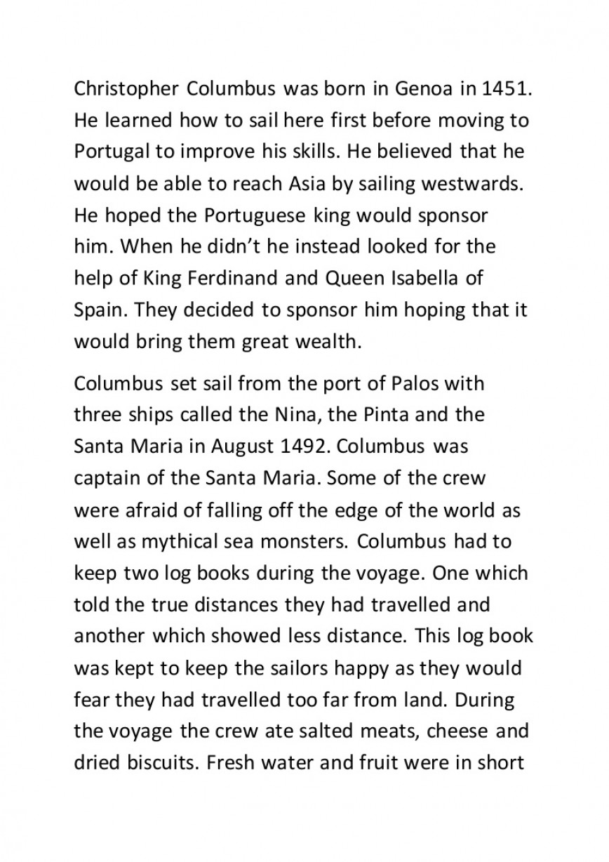 001 Christopher Columbus Essay Example Columbusessay Lva1 App6892 Thumbnail Stunning Prompt Examples Topics