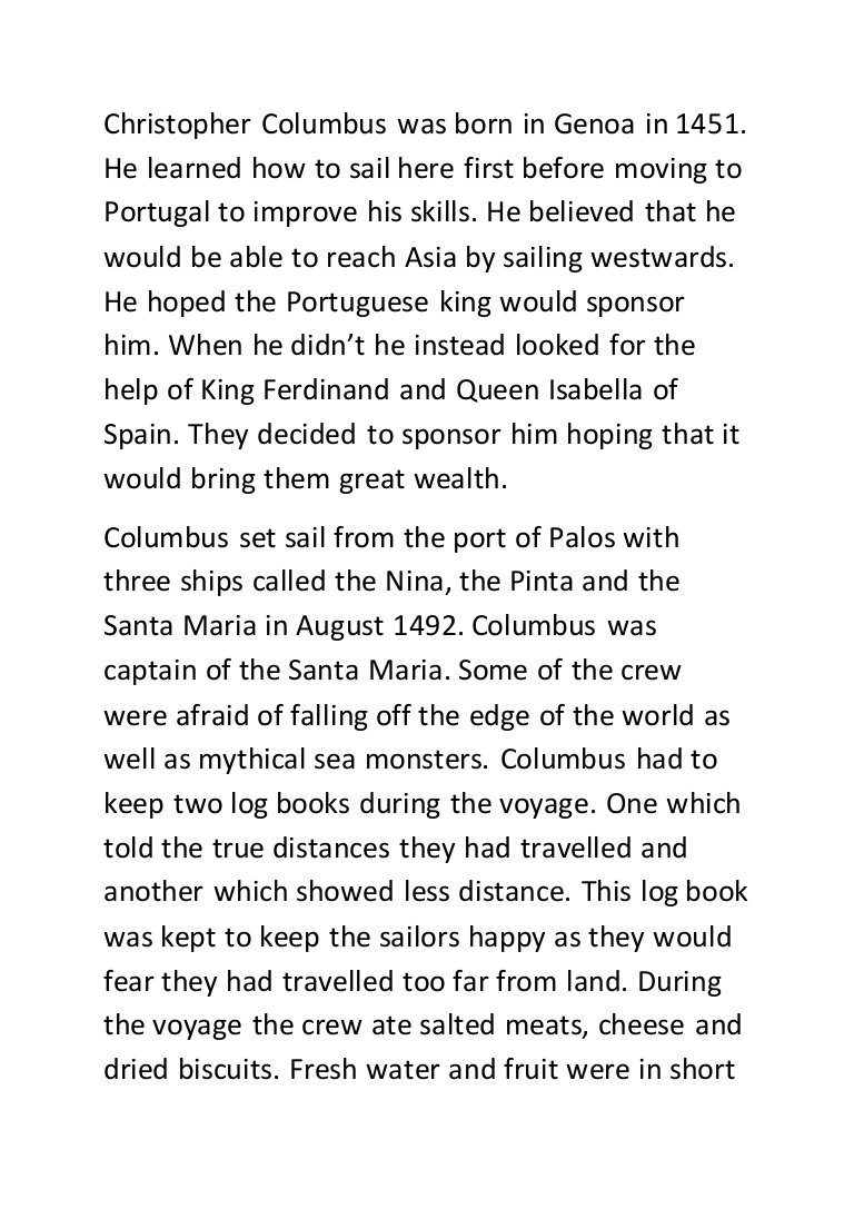 christopher columbus essay thesis
