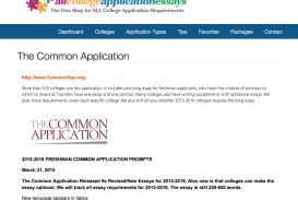 001 Common App Essay Prompts Essays And Commentary All College Topics Screen Shots Rare 2015-16