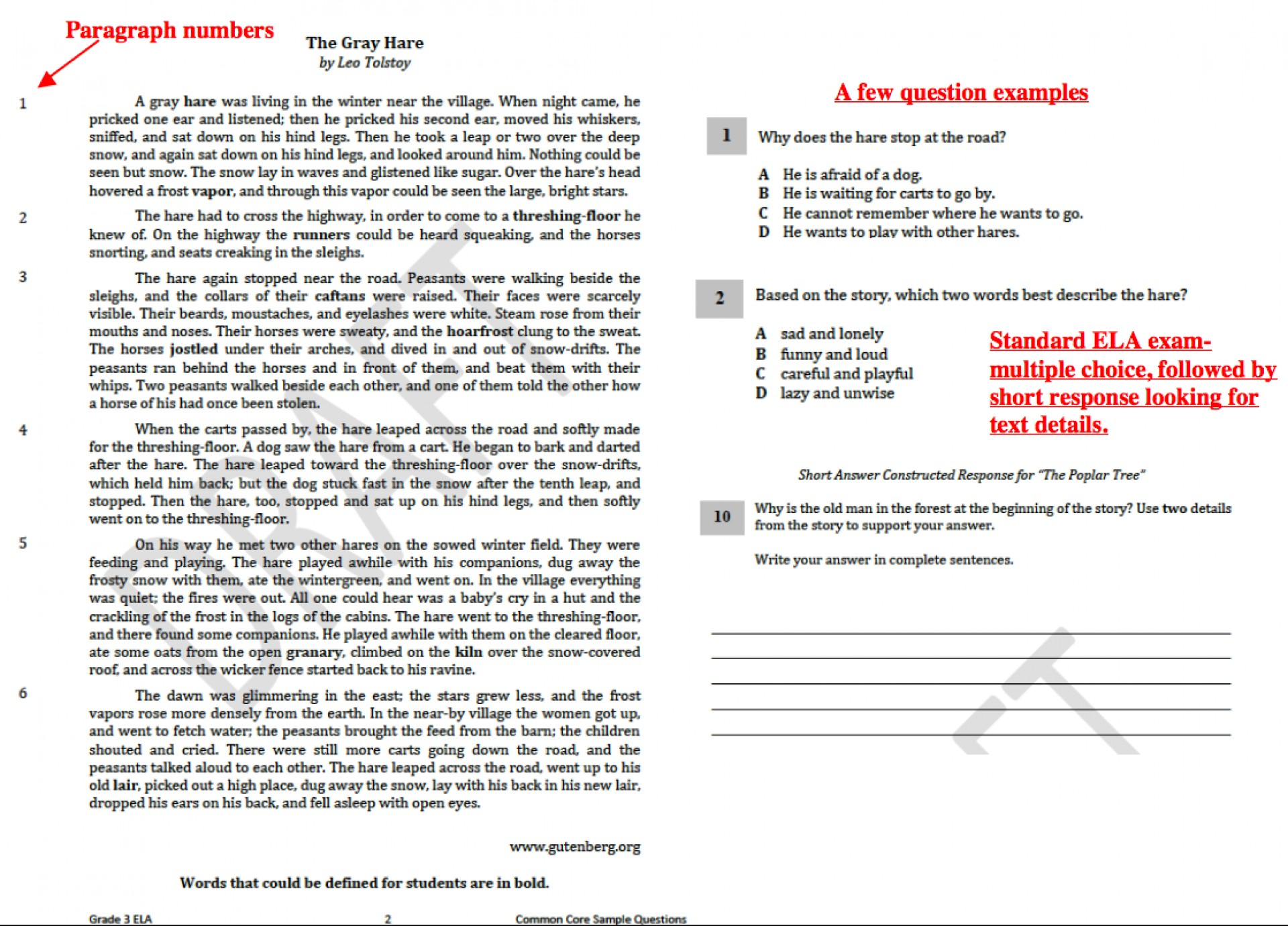 001 Common Core Essay Questions 3rd Grade Ela Marvelous 2017 1920