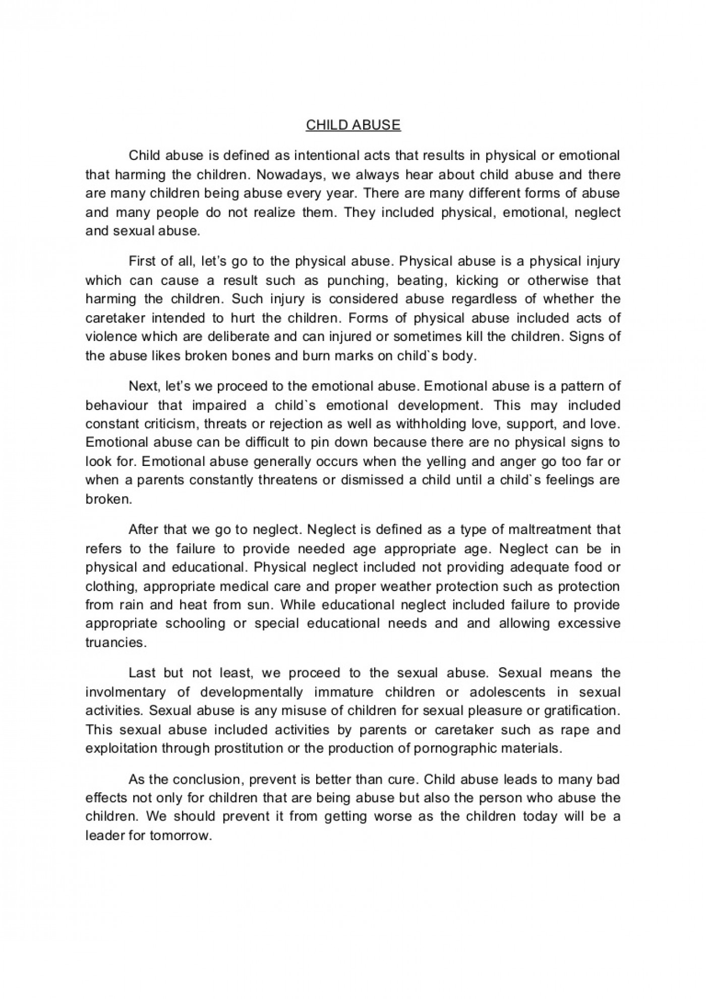 001 Conclusion Of Abuse Essay Childabusenewessay Phpapp02 Thumbnail Archaicawful Drug Alcohol 1400