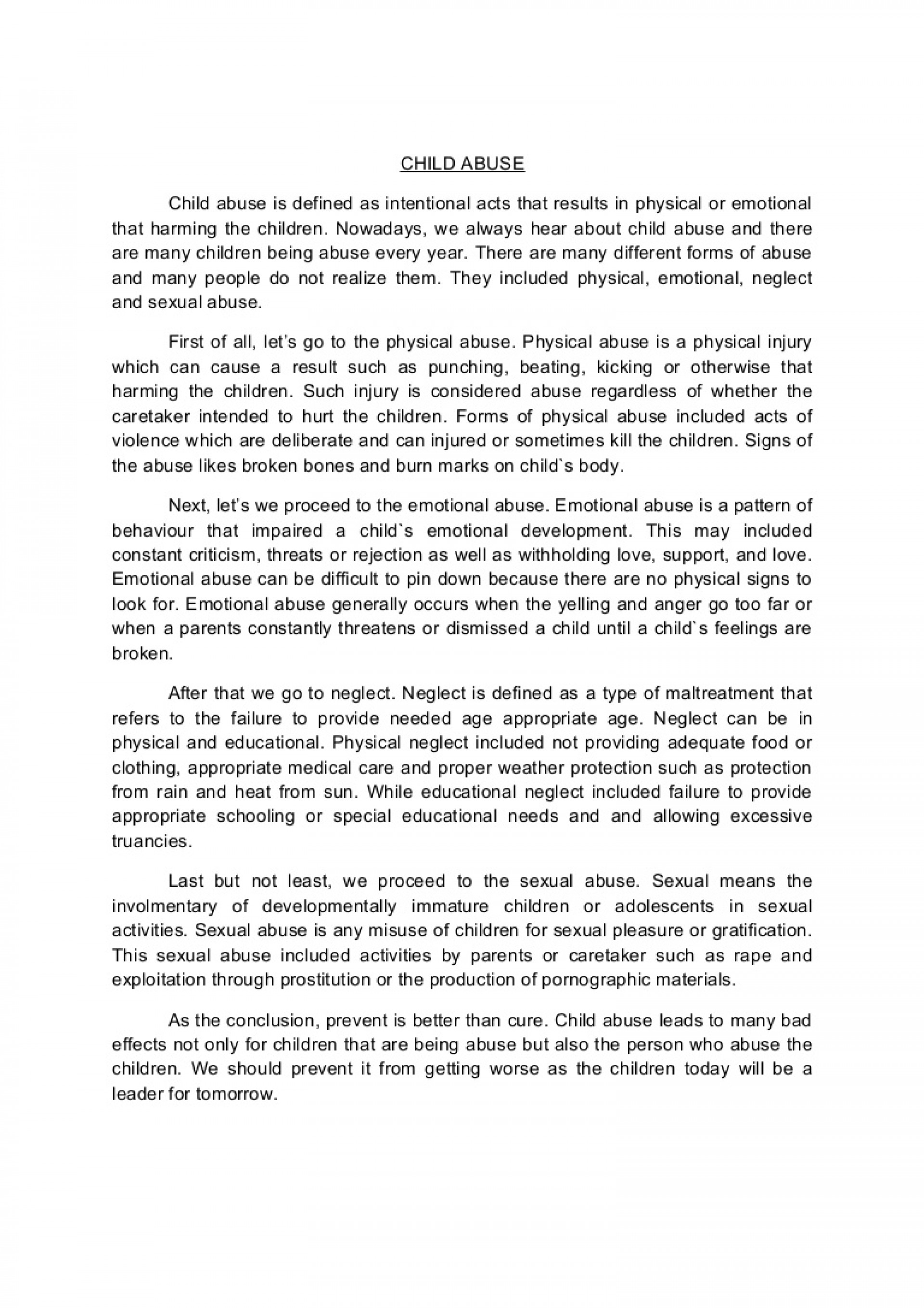 001 Conclusion Of Abuse Essay Childabusenewessay Phpapp02 Thumbnail Archaicawful Drug Alcohol 1920