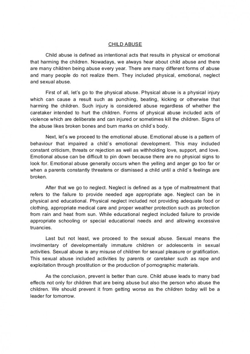 001 Conclusion Of Abuse Essay Childabusenewessay Phpapp02 Thumbnail Archaicawful Drug Alcohol 868