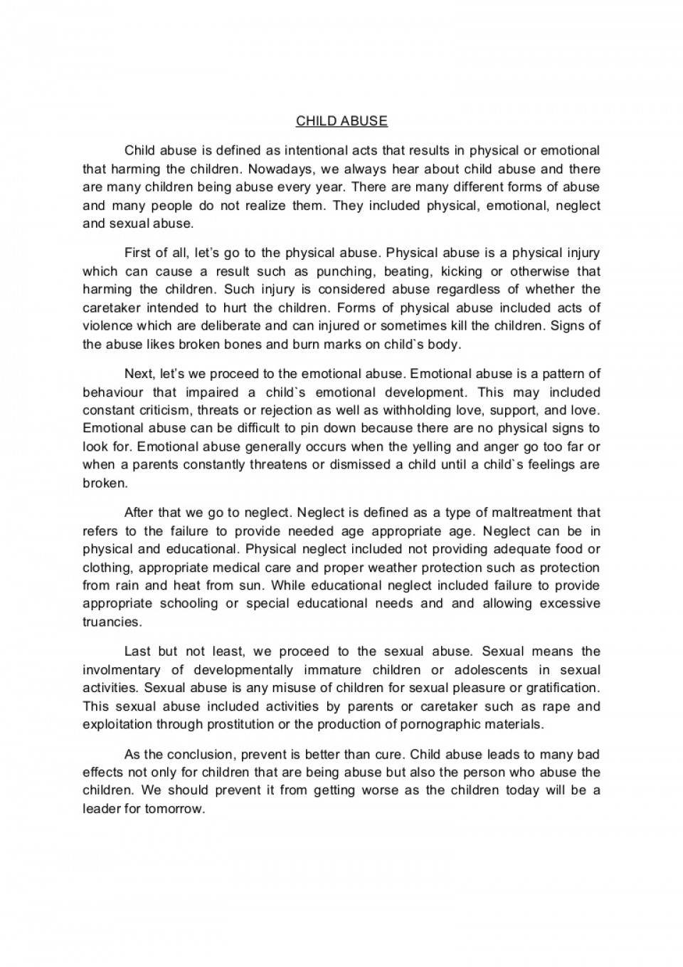 001 Conclusion Of Abuse Essay Childabusenewessay Phpapp02 Thumbnail Archaicawful Drug Alcohol 960