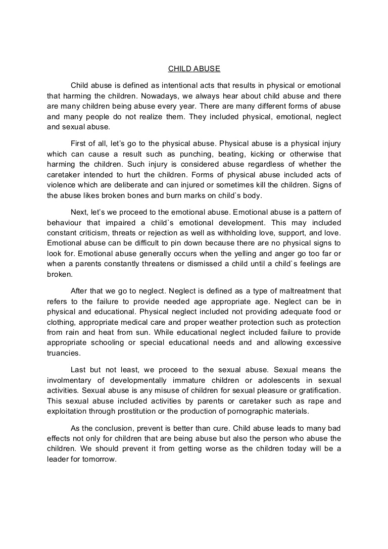 001 Conclusion Of Abuse Essay Childabusenewessay Phpapp02 Thumbnail Archaicawful Drug Alcohol Full