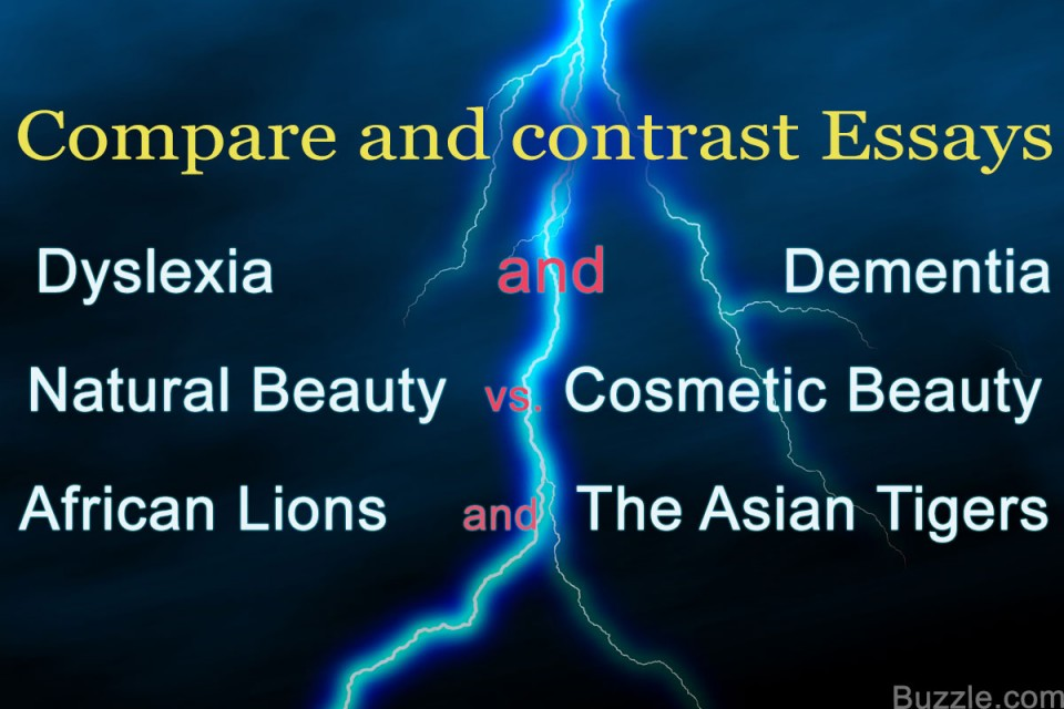 001 Contrast Essay Topics Compare List Of And Astounding Examples High School Middle 960