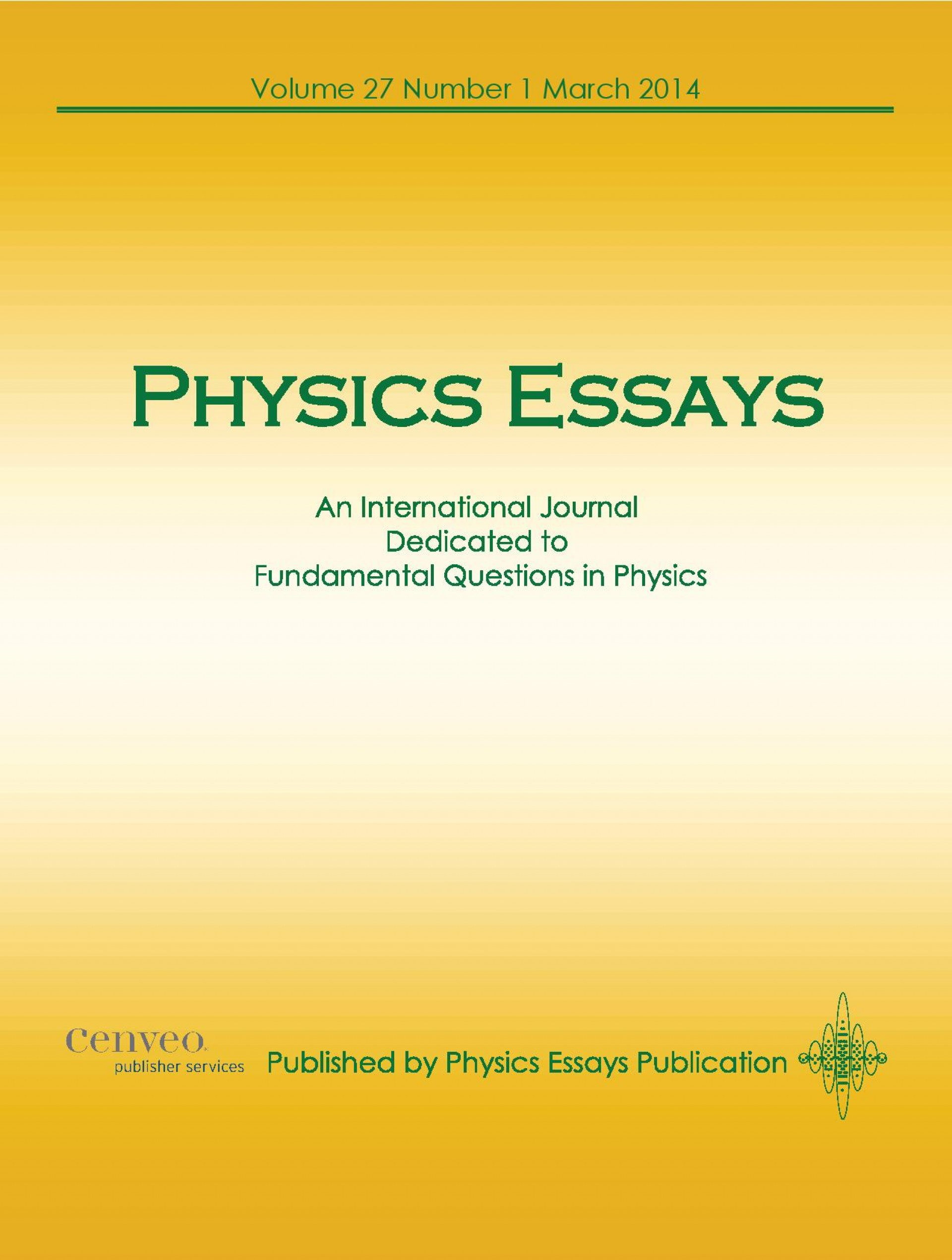 001 Cover 2014  Copy 2 Page Physics Essays Essay Rare Extended Topics Examples Wikipedia Crackpot1920