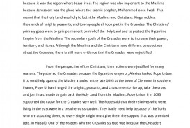 001 Crusades Essay Towhatextentwerethecrusadesjustified Phpapp01 Thumbnail Awful Summary Impact Of The Dbq Hook