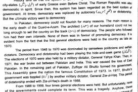 001 Democracy Essay Democracyinpakistan28129 Shocking In Urdu Pdf Pakistan English 200 Words