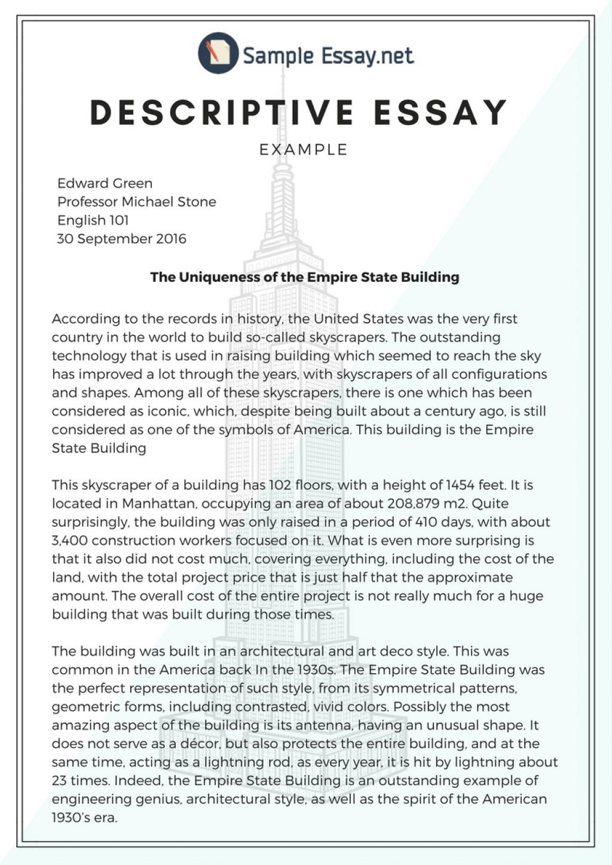 001 Description Essay Example Impressive Descriptive Format Rubric Pdf Outline And Structure Large