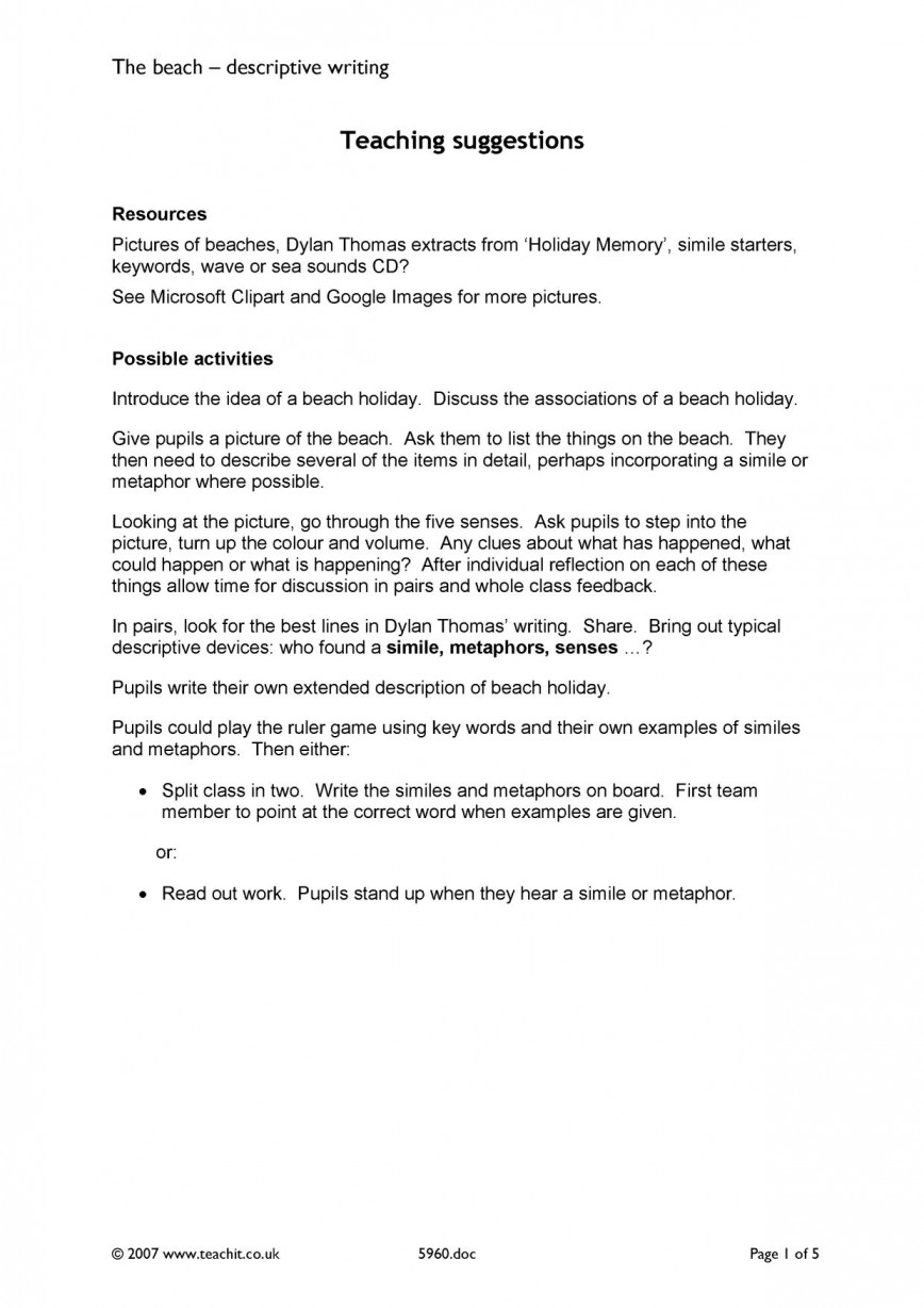 001 Descriptive Essay About The Beach X7229 Php Pagespeed Ic Wgs9dx8iuw Impressive Sample Studymode Writing At Night