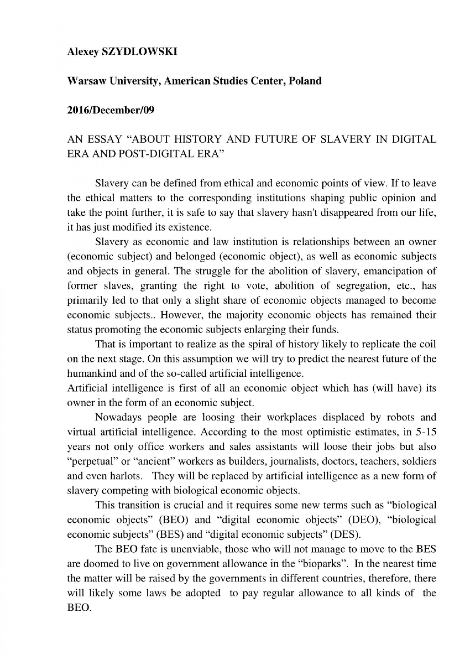 001 Digital Era Essay Example Staggering In India 1920