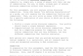 001 Discourse Community Essay Example 007192056 1 Unusual Outline Introduction Titles