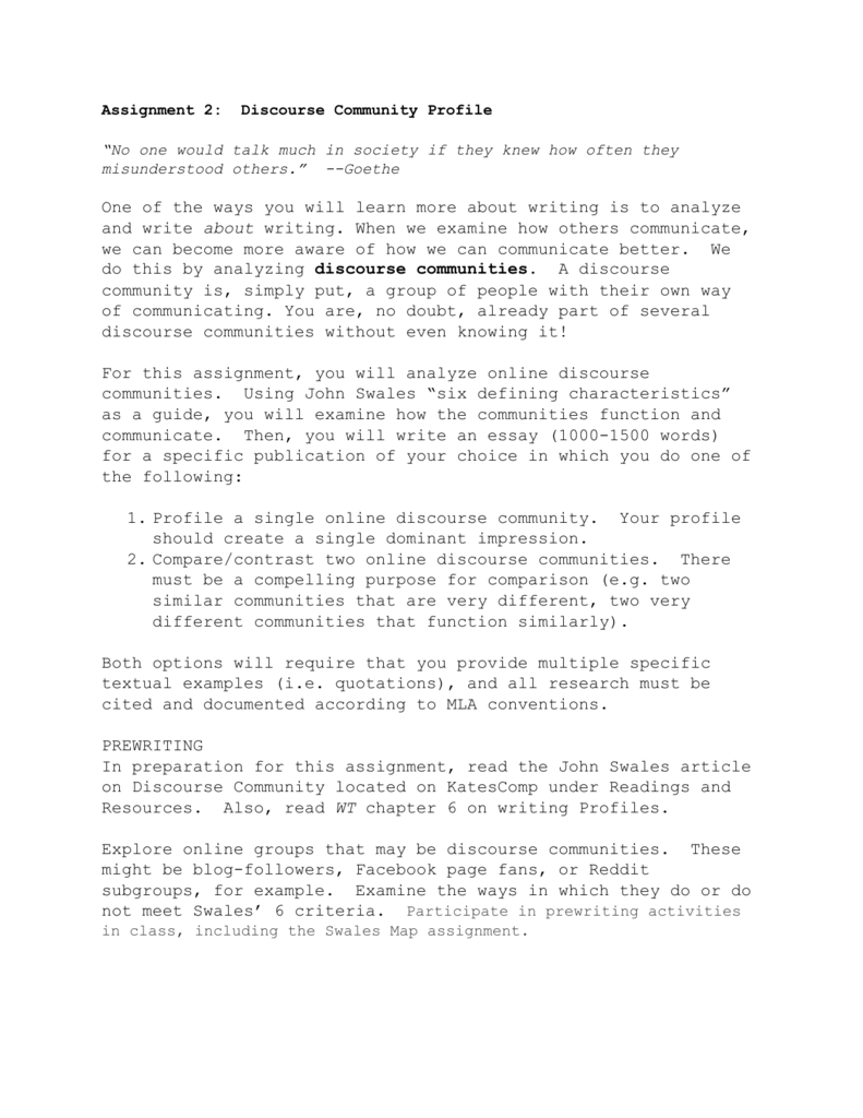 001 Discourse Community Essay Example 007192056 1 Unusual Conclusion Ideas Full