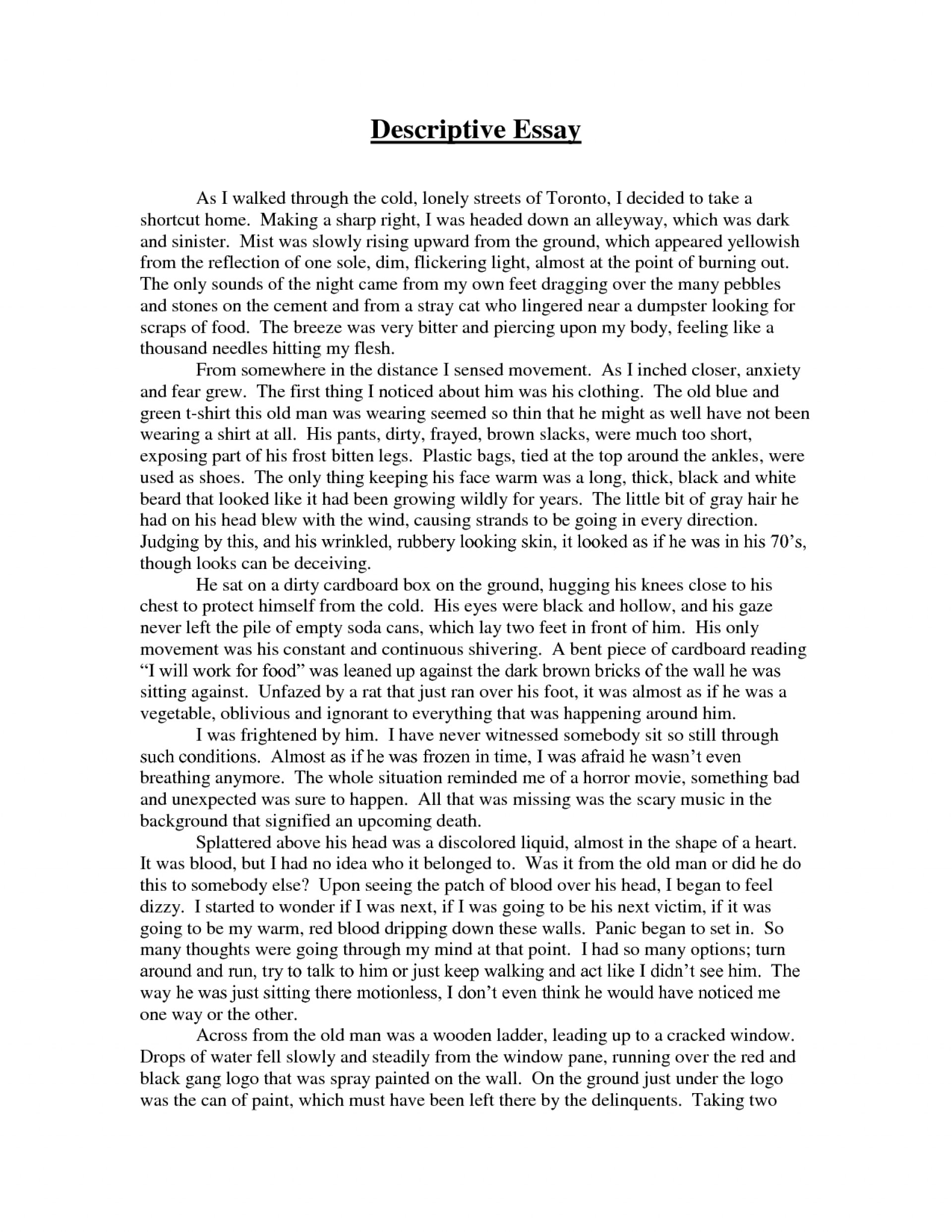 001 Discriptive Essay Cover Letter Example For Descriptive How Write Writing Paragraph About Place To Of In Philippines Impressive Food Short My Favorite Junk Festival 1920