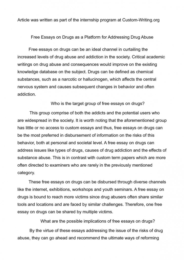 001 Drug Abuse Essay P1 Remarkable Questions Conclusion In English Pdf 728